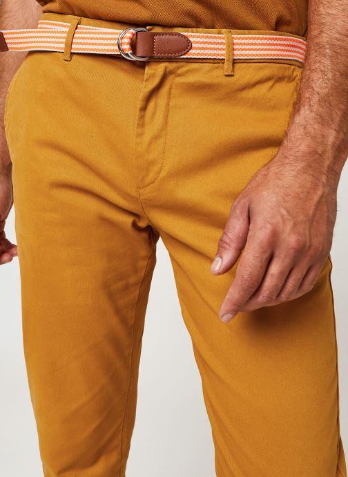 Vêtements Scotch & Soda Stuart Peached Twill Chino With Give Away Belt Jaune vue face