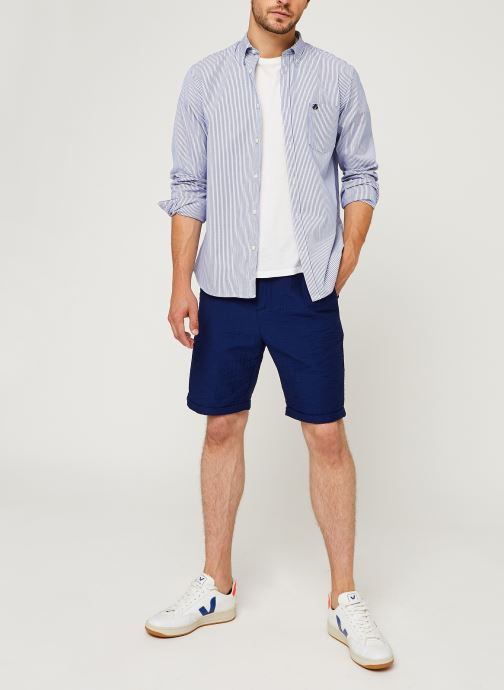 Vêtements Scotch & Soda Sashiko Travel Short Bleu vue bas / vue portée sac