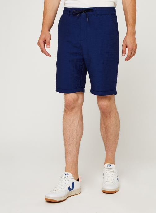 Vêtements Scotch & Soda Sashiko Travel Short Bleu vue détail/paire