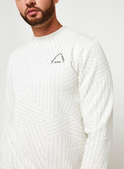 Vêtements Scotch & Soda Crew Neck Sweat With Aop Blanc vue face