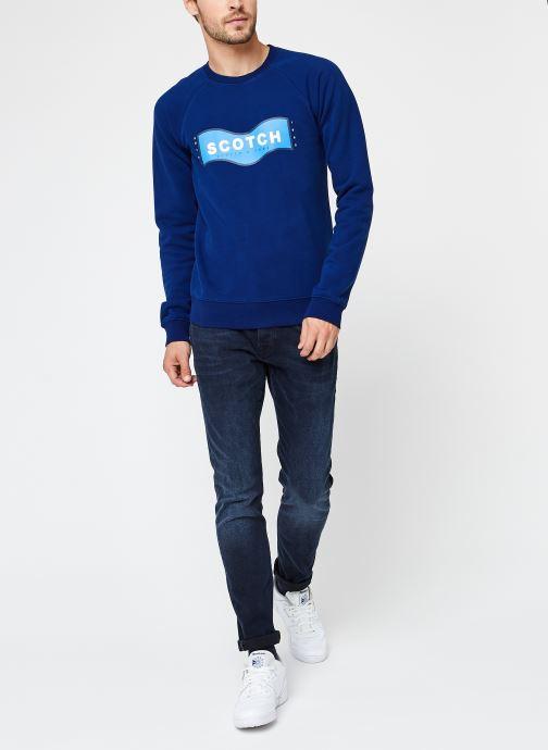 Vêtements Scotch & Soda Scotch & Soda Crew Neck Sweat Bleu vue bas / vue portée sac