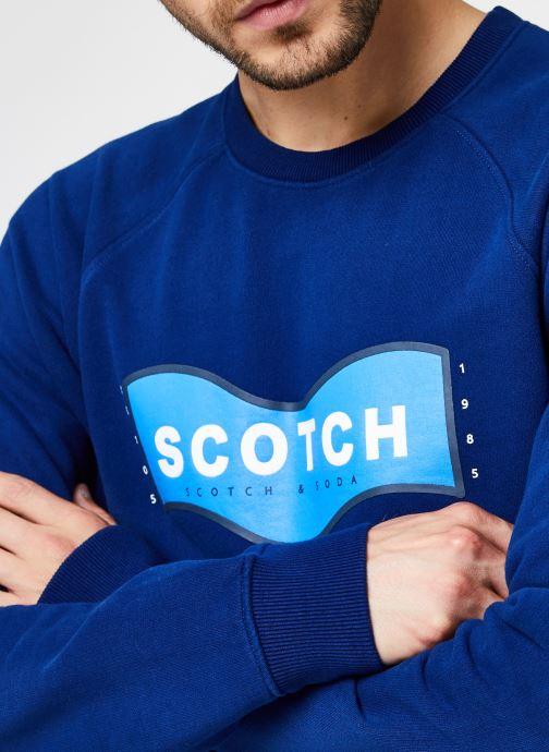 Vêtements Scotch & Soda Scotch & Soda Crew Neck Sweat Bleu vue face