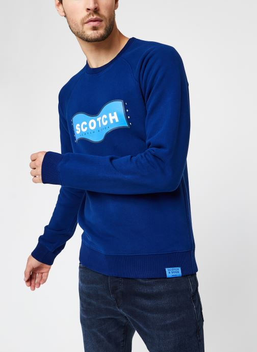 Vêtements Scotch & Soda Scotch & Soda Crew Neck Sweat Bleu vue droite