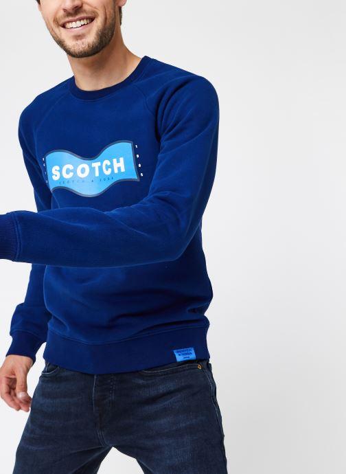 Vêtements Scotch & Soda Scotch & Soda Crew Neck Sweat Bleu vue détail/paire