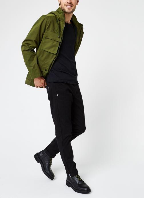 Vêtements Scotch & Soda 4 Pocket Military Jacket With Fabric Mix Vert vue bas / vue portée sac