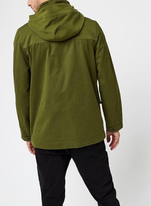 Vêtements Scotch & Soda 4 Pocket Military Jacket With Fabric Mix Vert vue portées chaussures
