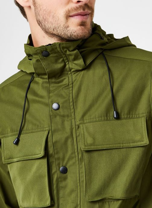 Vêtements Scotch & Soda 4 Pocket Military Jacket With Fabric Mix Vert vue face
