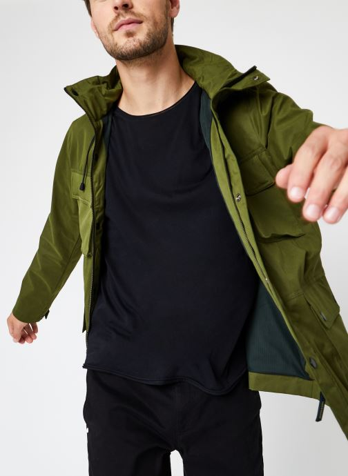 4 Pocket Military Jacket With Fabric Mix