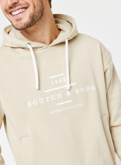 Vêtements Scotch & Soda Scotch & Soda Hooded Sweat Beige vue face