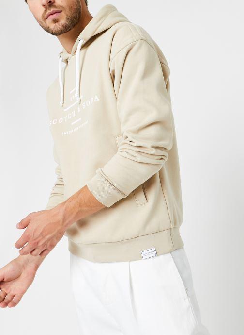 Vêtements Scotch & Soda Scotch & Soda Hooded Sweat Beige vue détail/paire