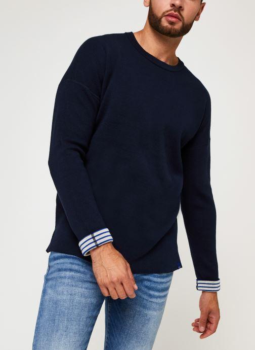 Vêtements Scotch & Soda Reversible Pull Bleu vue droite