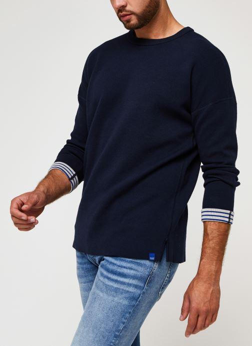 Vêtements Scotch & Soda Reversible Pull Bleu vue détail/paire