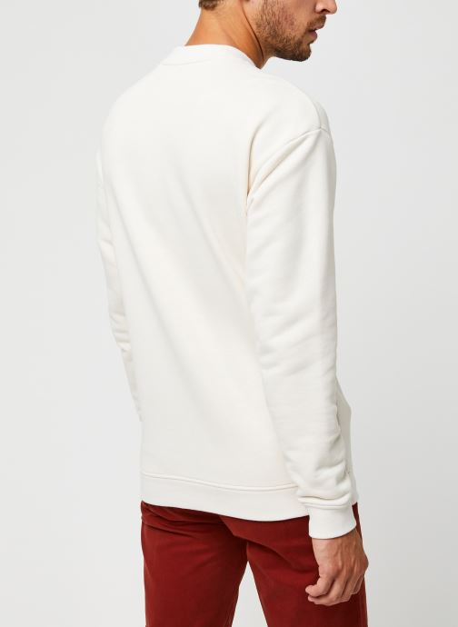 Vêtements Scotch & Soda High Neck Recycled Cotton Sweat In Boxy Fit Blanc vue portées chaussures