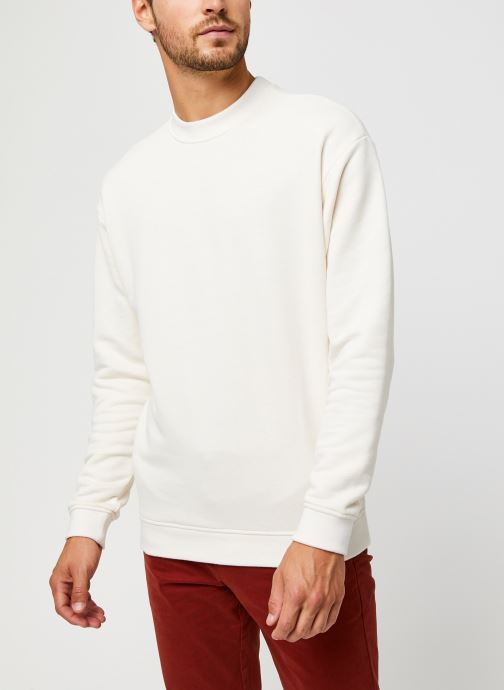 Vêtements Scotch & Soda High Neck Recycled Cotton Sweat In Boxy Fit Blanc vue droite