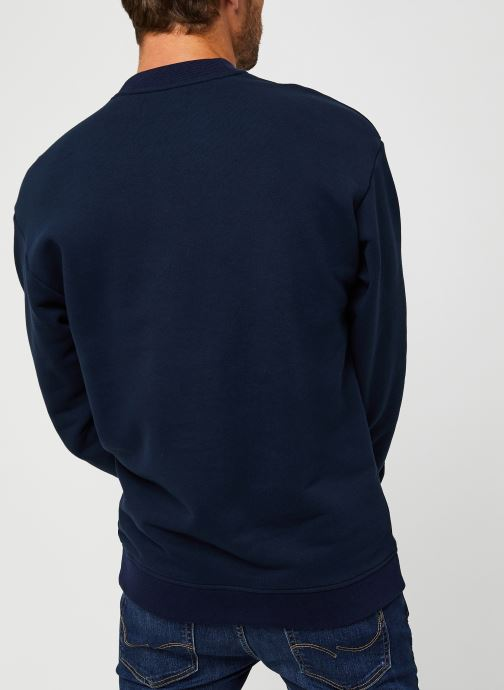 Vêtements Scotch & Soda High Neck Recycled Cotton Sweat In Boxy Fit Bleu vue portées chaussures