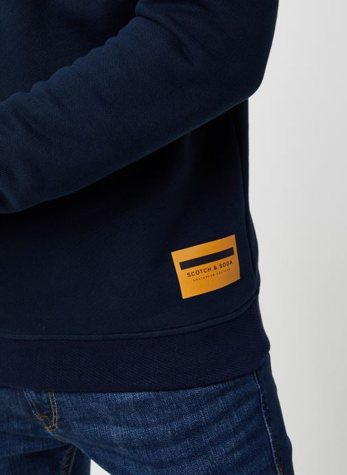 Vêtements Scotch & Soda High Neck Recycled Cotton Sweat In Boxy Fit Bleu vue face