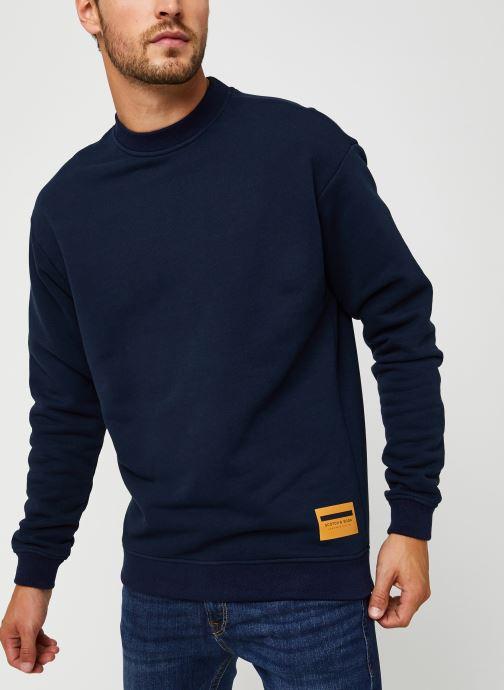 Vêtements Scotch & Soda High Neck Recycled Cotton Sweat In Boxy Fit Bleu vue droite