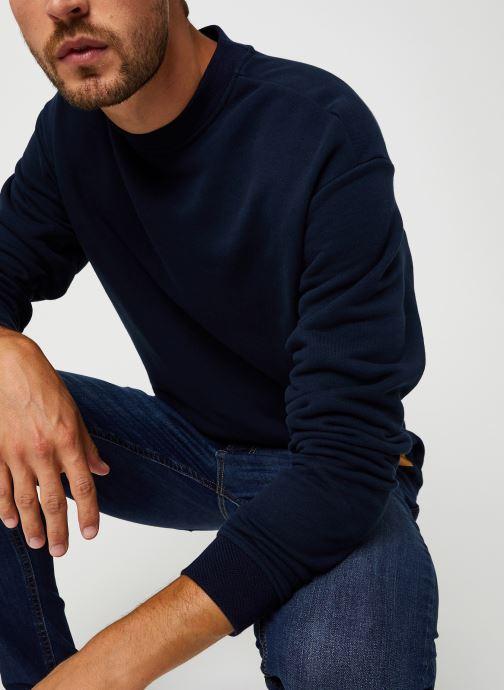 Vêtements Scotch & Soda High Neck Recycled Cotton Sweat In Boxy Fit Bleu vue détail/paire
