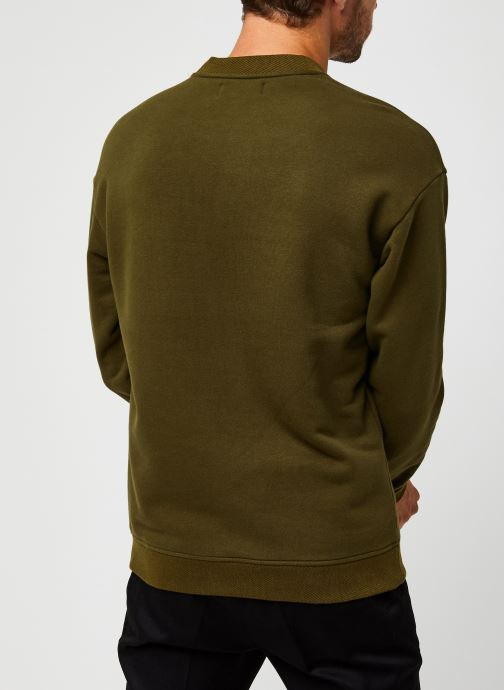 Vêtements Scotch & Soda High Neck Recycled Cotton Sweat In Boxy Fit Vert vue portées chaussures