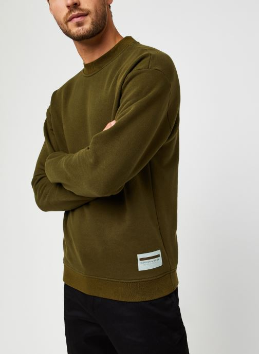 Vêtements Scotch & Soda High Neck Recycled Cotton Sweat In Boxy Fit Vert vue droite