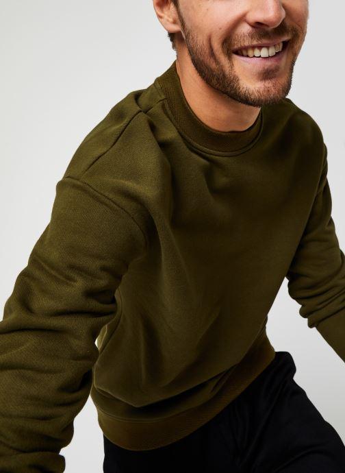 Vêtements Scotch & Soda High Neck Recycled Cotton Sweat In Boxy Fit Vert vue détail/paire