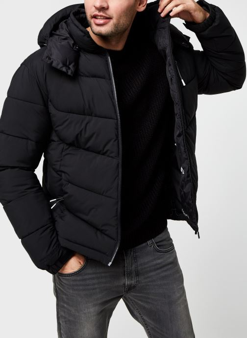 Vêtements Accessoires Repreve® Mid-Length Quitled Padded Jacket With Contrast Hood