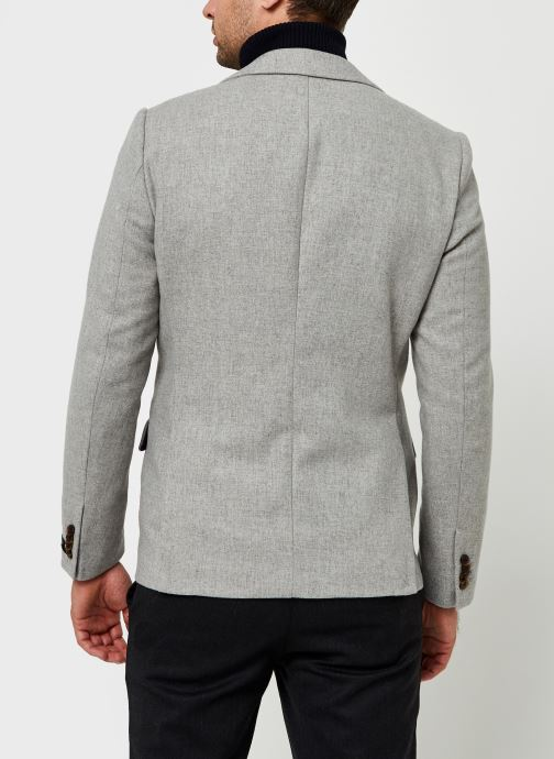 Vêtements Scotch & Soda Classic Single-Breasted Neps Wool-Blend Blazer Gris vue portées chaussures