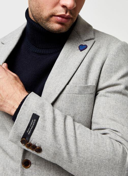 Vêtements Scotch & Soda Classic Single-Breasted Neps Wool-Blend Blazer Gris vue face