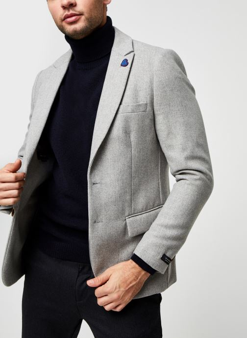 Classic Single-Breasted Neps Wool-Blend Blazer