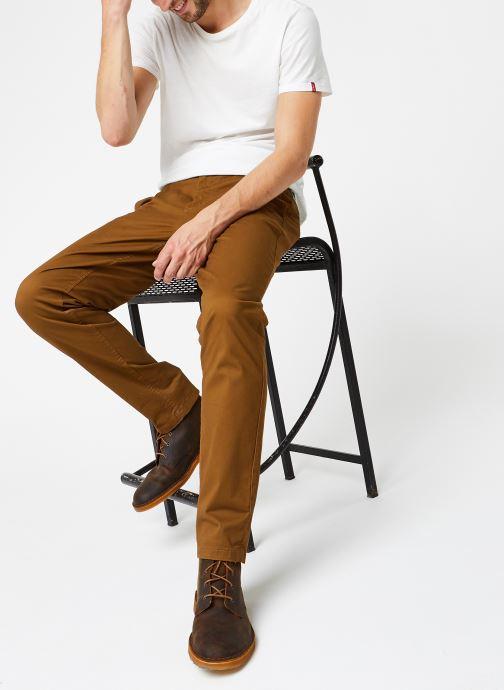 Vêtements Scotch & Soda Stuart - Classic Twill Chino With Stretch Marron vue bas / vue portée sac