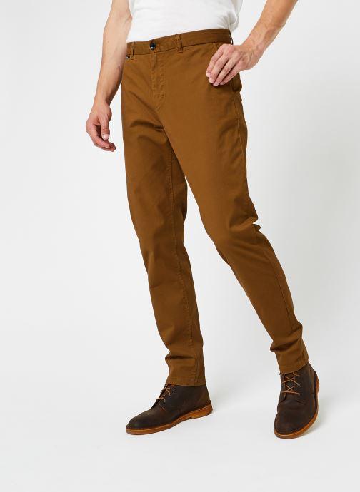 Vêtements Scotch & Soda Stuart - Classic Twill Chino With Stretch Marron vue détail/paire