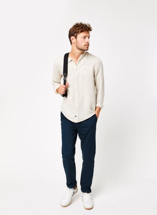 Vêtements Scotch & Soda Stuart - Classic Twill Chino With Stretch Bleu vue bas / vue portée sac