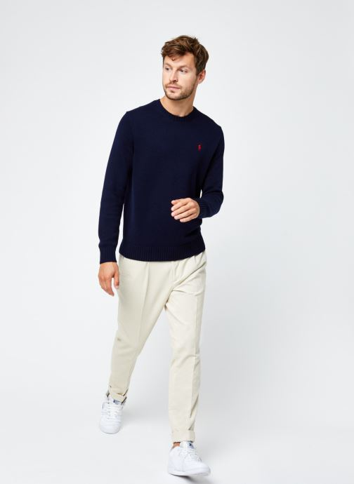 Vêtements Scotch & Soda Blake - Pleated Corduroy Pant With Fixed Turn-Up Beige vue bas / vue portée sac