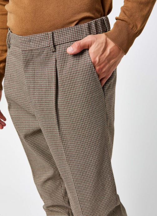 Vêtements Scotch & Soda Blake- Classic Structured Yarn-Dyed Pleated Chino Marron vue face