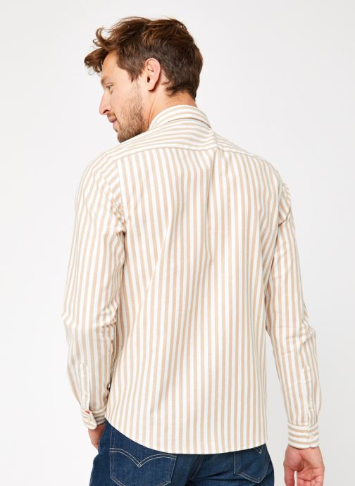 Vêtements Scotch & Soda Regular Fit - Classic Striped Oxford Shirt Multicolore vue portées chaussures