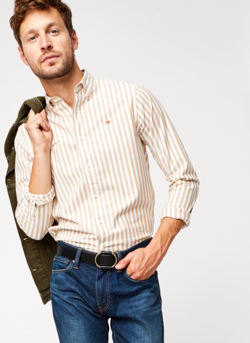 Vêtements Scotch & Soda Regular Fit - Classic Striped Oxford Shirt Multicolore vue détail/paire