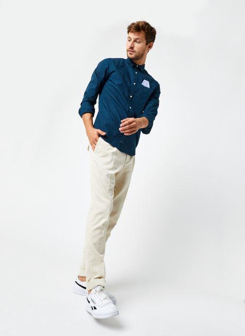 Vêtements Scotch & Soda Regular Fit - Chic Pochet Shirt Bleu vue bas / vue portée sac