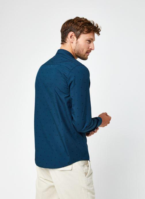 Vêtements Scotch & Soda Regular Fit - Chic Pochet Shirt Bleu vue portées chaussures