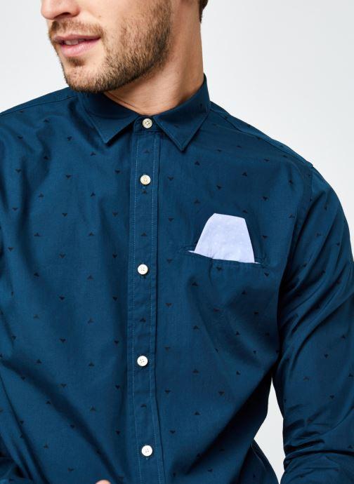 Vêtements Scotch & Soda Regular Fit - Chic Pochet Shirt Bleu vue face