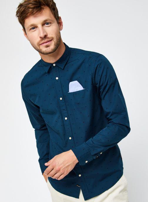 Vêtements Scotch & Soda Regular Fit - Chic Pochet Shirt Bleu vue droite