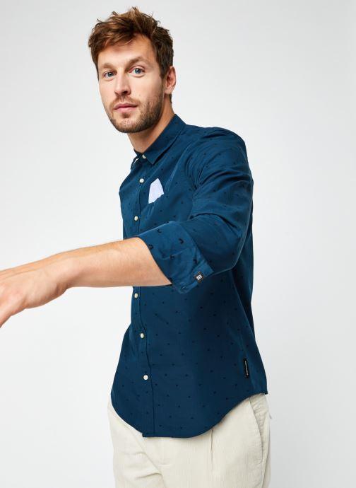 Vêtements Scotch & Soda Regular Fit - Chic Pochet Shirt Bleu vue détail/paire