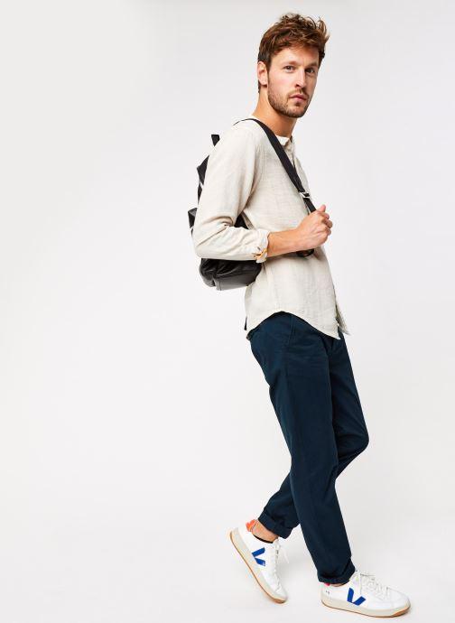 Vêtements Scotch & Soda Regular Fit - Collarless Structured Shirt Beige vue bas / vue portée sac