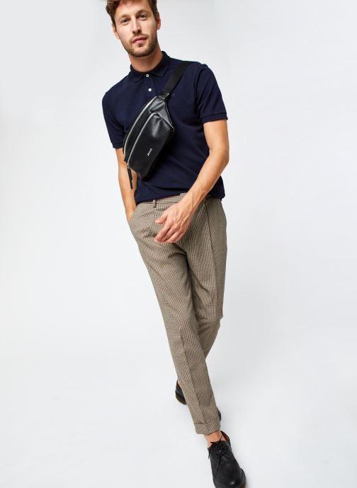 Vêtements Scotch & Soda Garment-Dyed Stretch Cotton- Pique Polo Bleu vue bas / vue portée sac