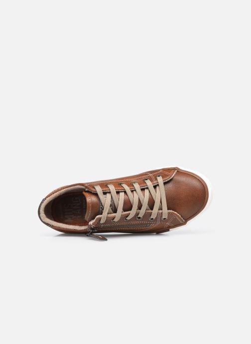 Baskets Mustang shoes Aplux Marron vue gauche