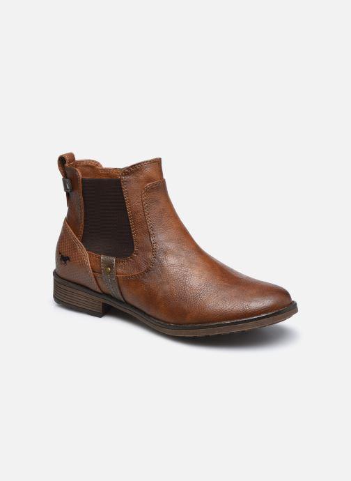 Bottines et boots Mustang shoes Milou Marron vue détail/paire