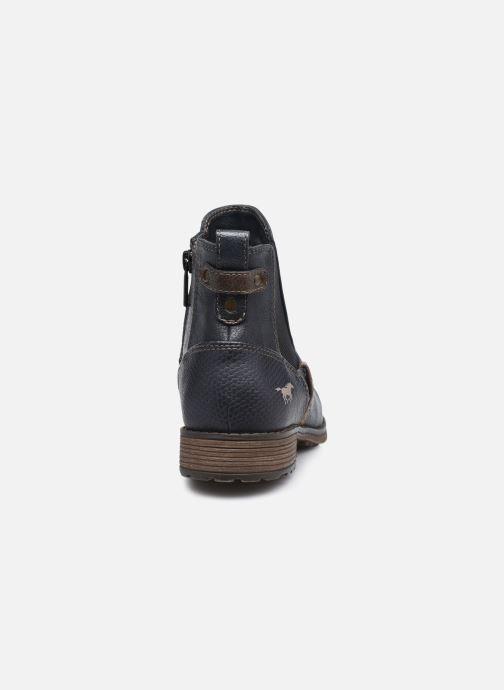 Bottines et boots Mustang shoes Milou Bleu vue droite