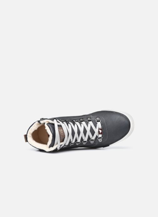 Sneaker Mustang shoes Drevy schwarz ansicht von links