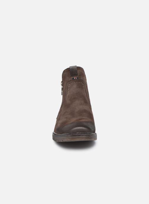 Bottines et boots Mustang shoes Eskilo Marron vue portées chaussures