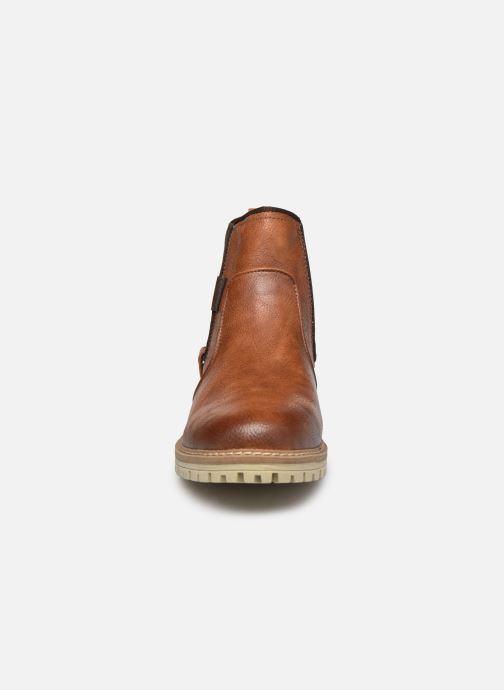 Bottines et boots Mustang shoes Jofry Marron vue portées chaussures