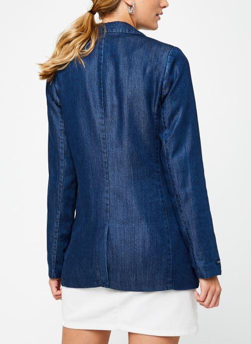 Vêtements Scotch & Soda Ams Blauw chic denim Tencel blazer Bleu vue portées chaussures
